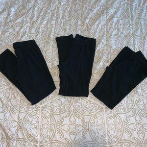 bundle of 3 black little girl leggings
